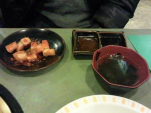 カクテキとわかめスープ
